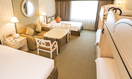 オリエンタルホテルの部屋