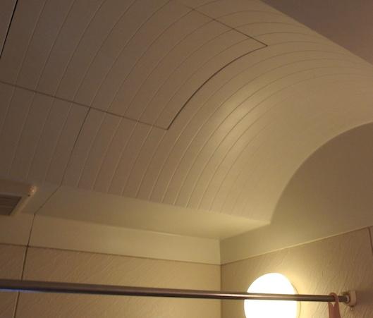 お風呂の丸い天井