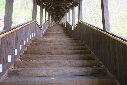 宮沢賢治記念館の階段