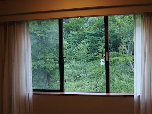 八ヶ岳ロイヤルホテル窓の眺め