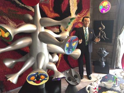 岡本太郎の蝋人形
