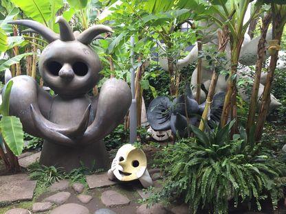 岡本太郎記念館ジャングルみたいな庭