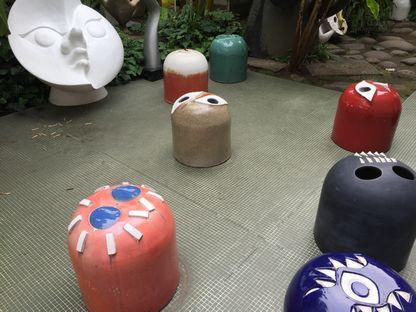 岡本太郎記念館の庭1
