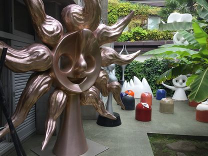 岡本太郎記念館の庭オブジェ1
