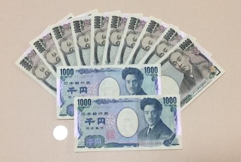 お札120001円